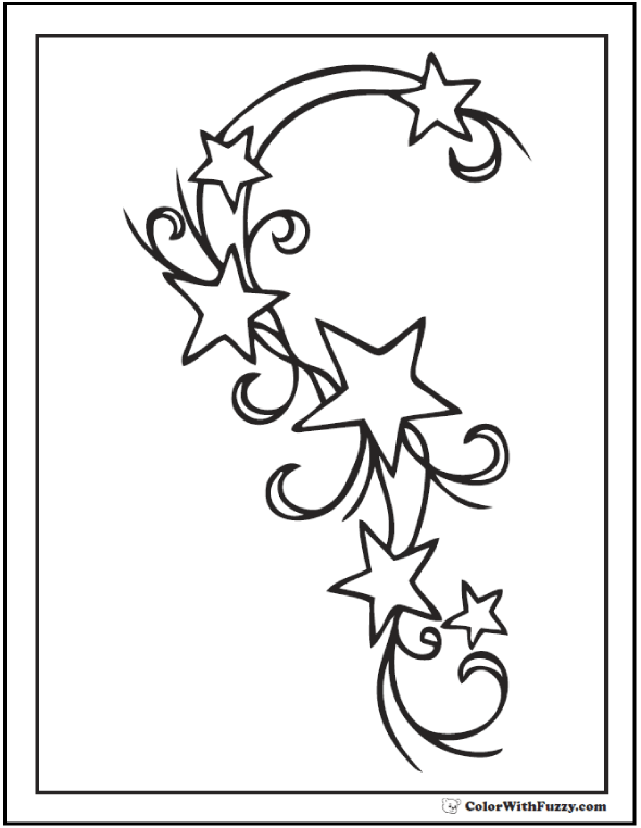 60 Star Coloring Pages Customize And Print Ad Free Pdf