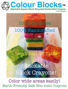 Square Crayons Safe for Kids, rocks