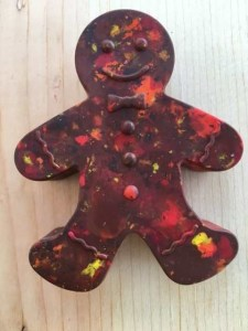 Kids Gingerbread Man Crayon Shape