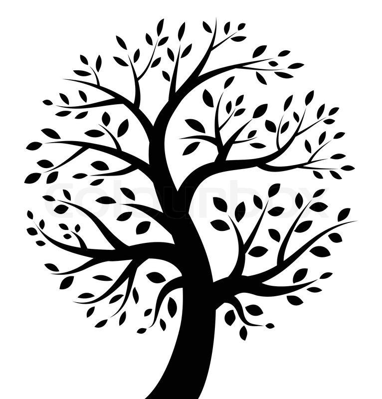 Black Tree Icon Vector Illustration Stock Vector