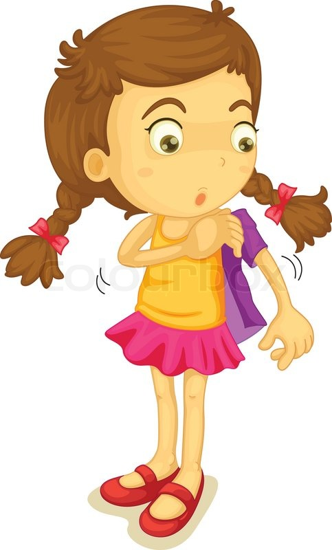 Girl Getting Dressed Stock Vector Colourbox