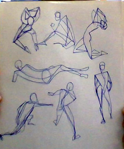 Iris Hopp - left hand gesture drawings