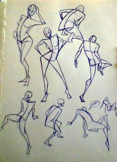 Iris Hopp - right hand gesture drawings