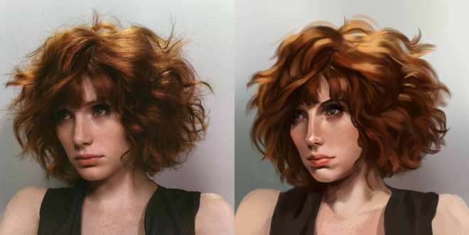 Iris Hopp 20150205 - portrait study ref 2h
