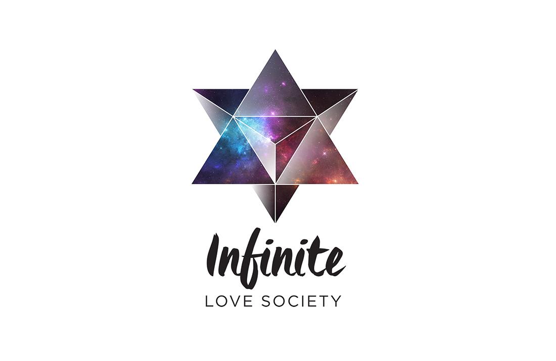 The Infinite Love Society merkabah sacred geometry logo by Tegan Swyny of Colour Cult.