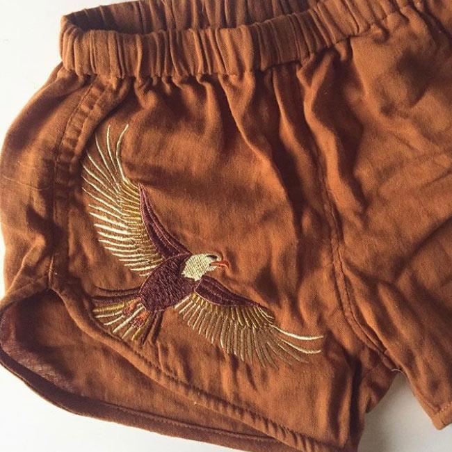 Chasing Rivers The Wild Ones 'Wild Wonder' eagle embroidery design by Tegan Swyny of Colour Cult. Textile design Brisbane, Australia.
