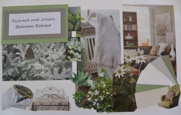 Green and grey bedroom - mood board - small file