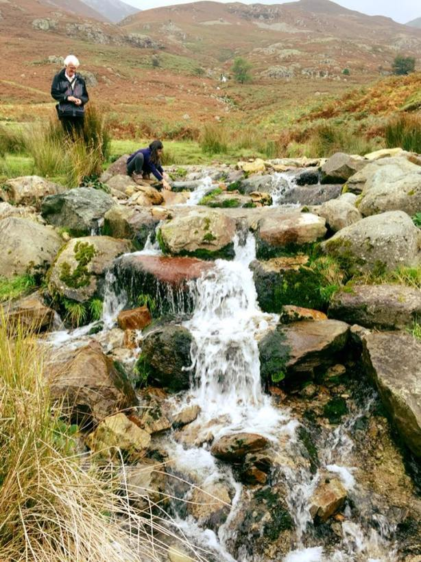 cascading water from Rannerdale Knotts