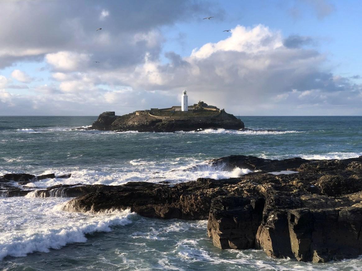 Godrevy Lighthouse Choppy Sea