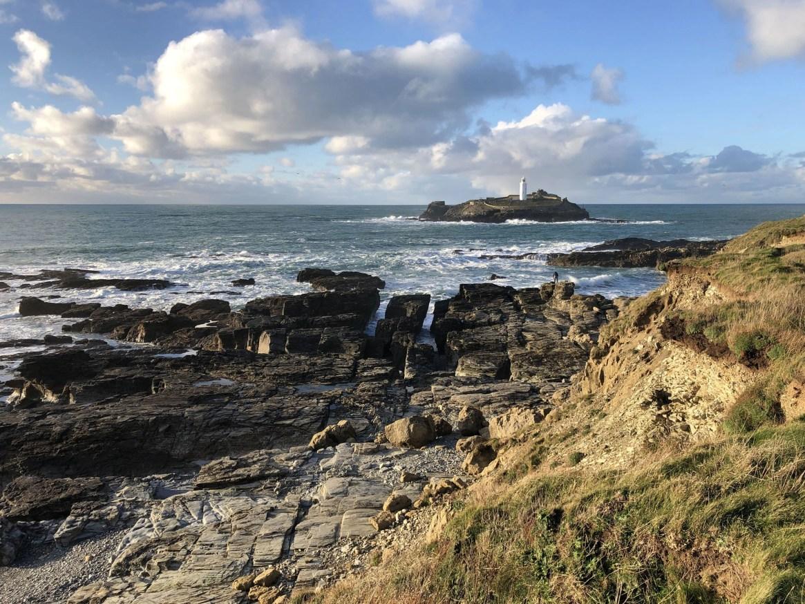 Godrevy Lighthouse from Rocky Bay