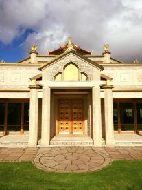 Buddhist Temple Entrance Close Up