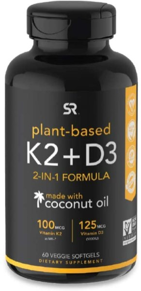 Vitamin D3 & K2 with Organic Coconut Oil
