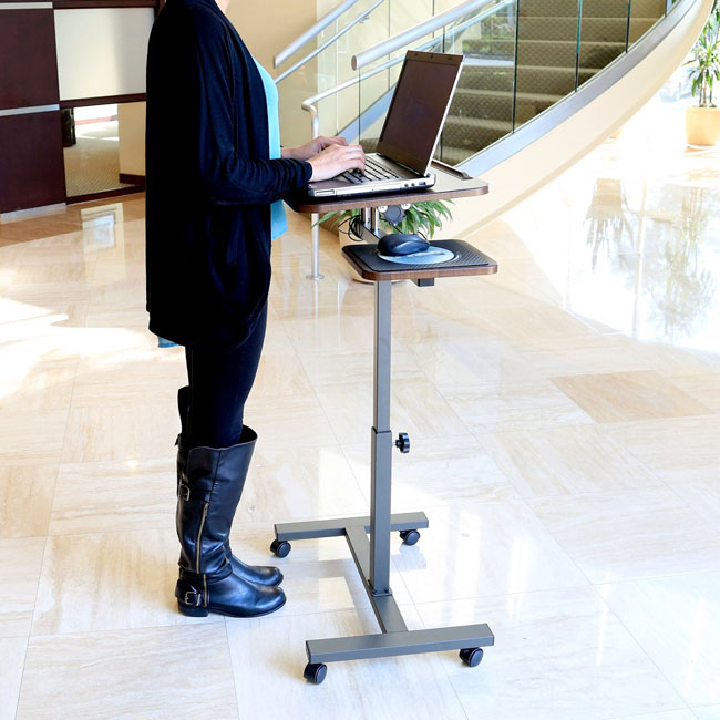 Seville Classics Mobile Laptop Desk Standing