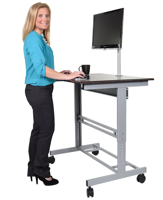 Stand Up Desk 40-inch Mobile Adjustable-Height