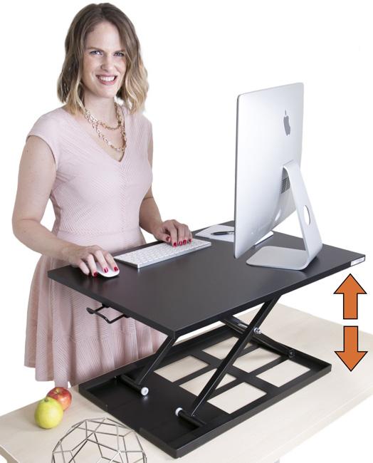 X ELITE PRO Height Adjustable Sit / Stand Desk Riser U2013 SINGLE LEVEL