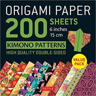 Origami Paper 200 sheets Kimono 12 Patterns