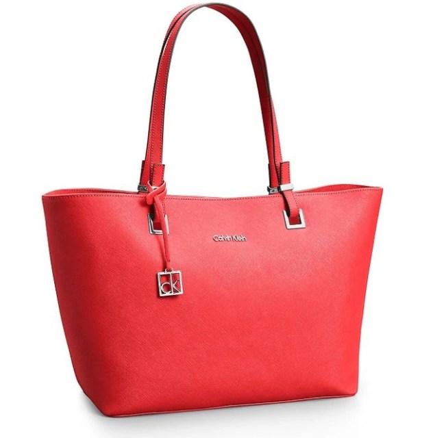Calvin Klein Scarlett Saffiano Leather Tote