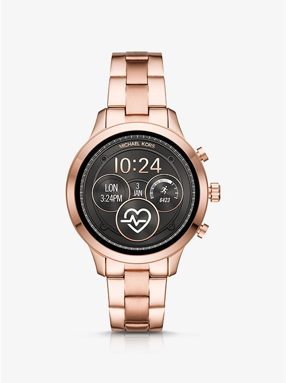 MICHAEL KORS ACCESS Runway Rose Gold-Tone Smartwatch MKT5046