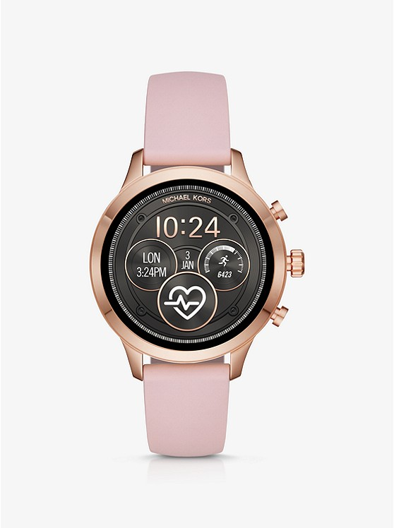 MICHAEL KORS ACCESS Runway Rose Gold-Tone and Silicone Smartwatch MKT5048