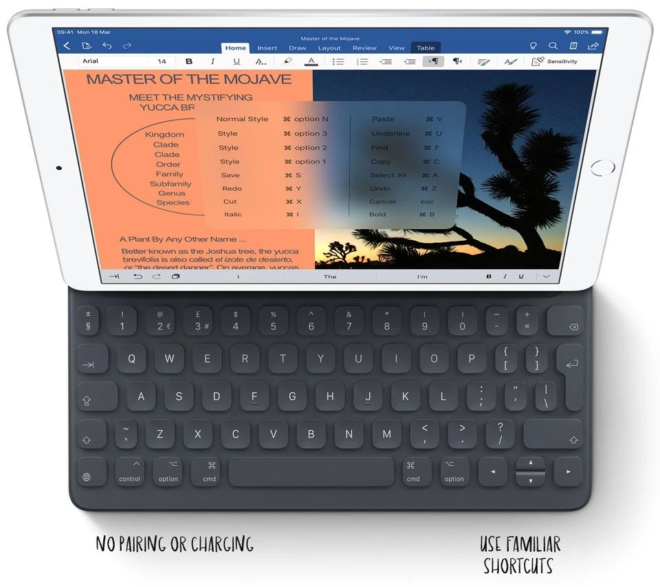 iPad Air 105 familiar short cuts