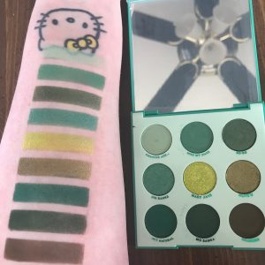 Colourpop Just My Luck palette Swatches
