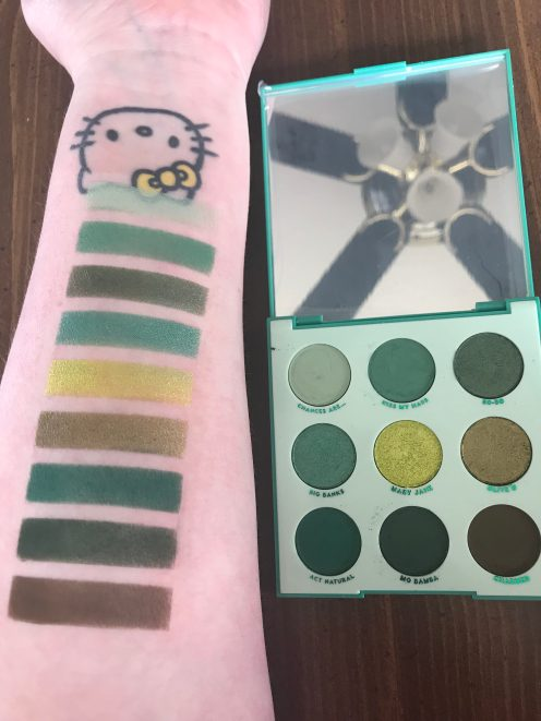 colourpop just my luck swatches