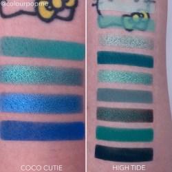 COLOURPOP eye shadow palette comparisons (COCO CUTIE VS HIGH TIDE)