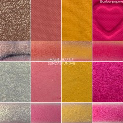 Coloupop Sundae Funday palette vs Malibu Barbie