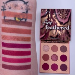 Colourpop FINE FEATHERED palette and swatches