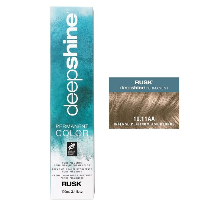 Rusk Deepshine 10.11AA Intense Platinum Ash Blonde Permanent Hair Colour
