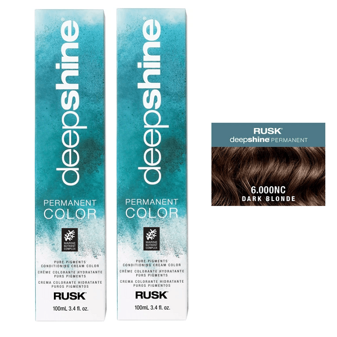 Rusk Deepshine 6.000NC Dark Blonde Permanent Hair Colour