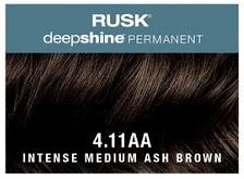 Rusk Deepshine Permanent Colour 4.11AA Intense Medium Ash Brown