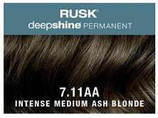 Rusk Deepshine Permanent Colour 7.11AA Intense Medium Ash Blonde