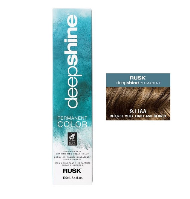 Rusk Deepshine Permanent Colour 9.11AA Intense Very Light Ash Blonde