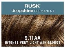 Rusk-Deepshine Permanent Colour 9.11AA Intense Very Light Ash Blonde
