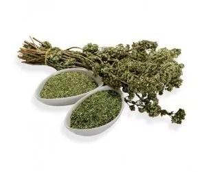 olio essenziale di origano-pianta officinale-origano a mazzi e tritato