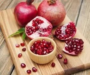 il succo di melograno-coltivazione del melograno-frutto maturo