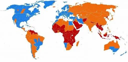 ora solare-ora legale-paesi con il cambio orario