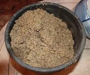Sabbia di fiume per la riproduzione del rosmarino