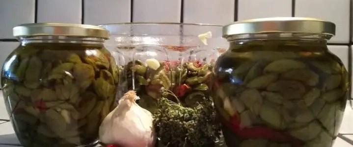 La ricetta delle olive schiacciate sott'olio