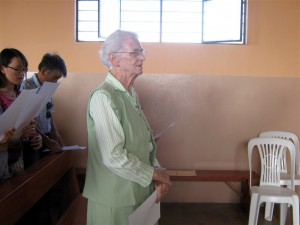 """Intercessory Prayers are offered for Bridie and all of the """"pueblo"""" de San Martin"""