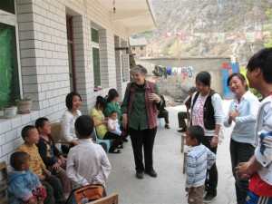 Nora Mary on an outreach visit to a small orphanage in China