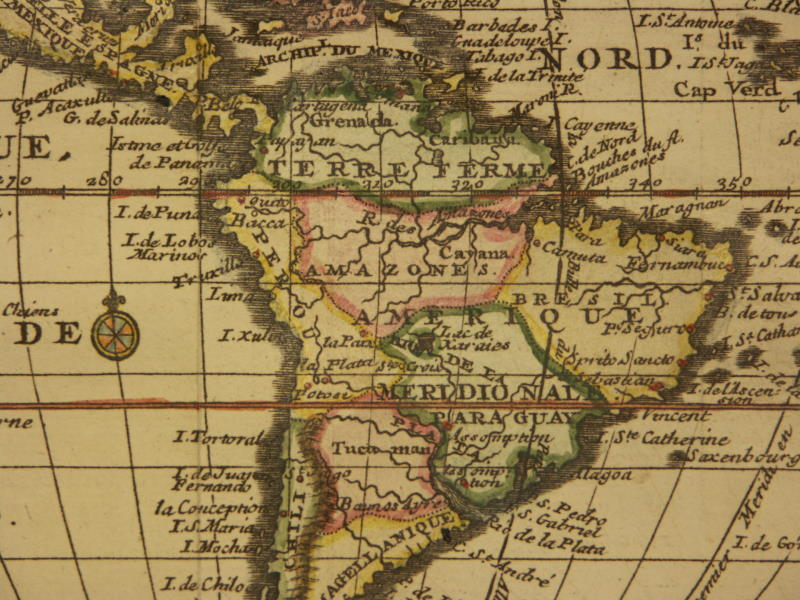 bion  North and South America  1744    northwest    northeast    southwest     southeast    North America
