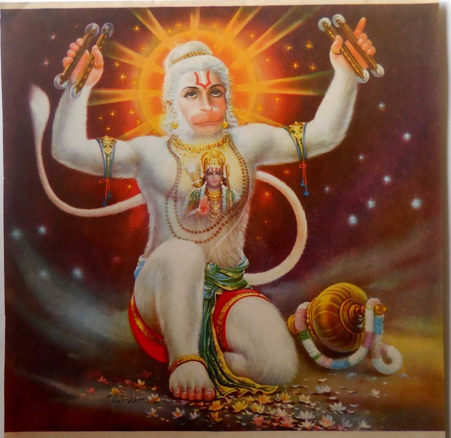 The Hanuman Mantra – Any work to be done immediately which gets