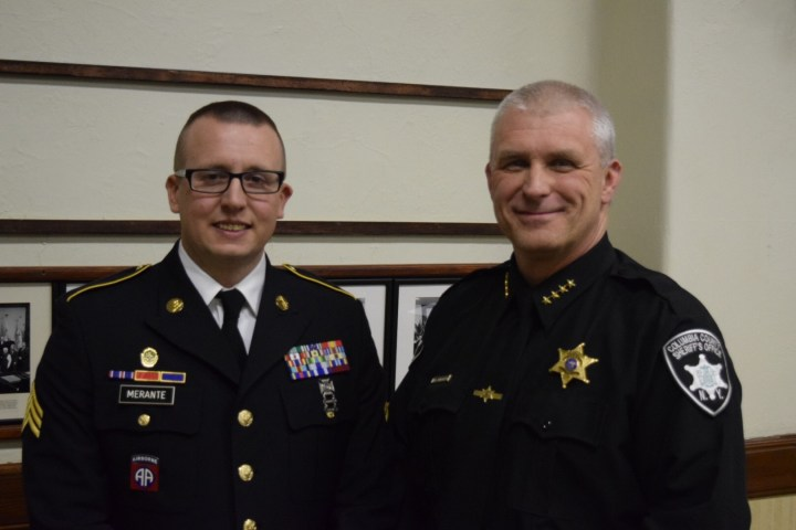 Sheriff honored for helping deputy deployed overseas - The Columbia