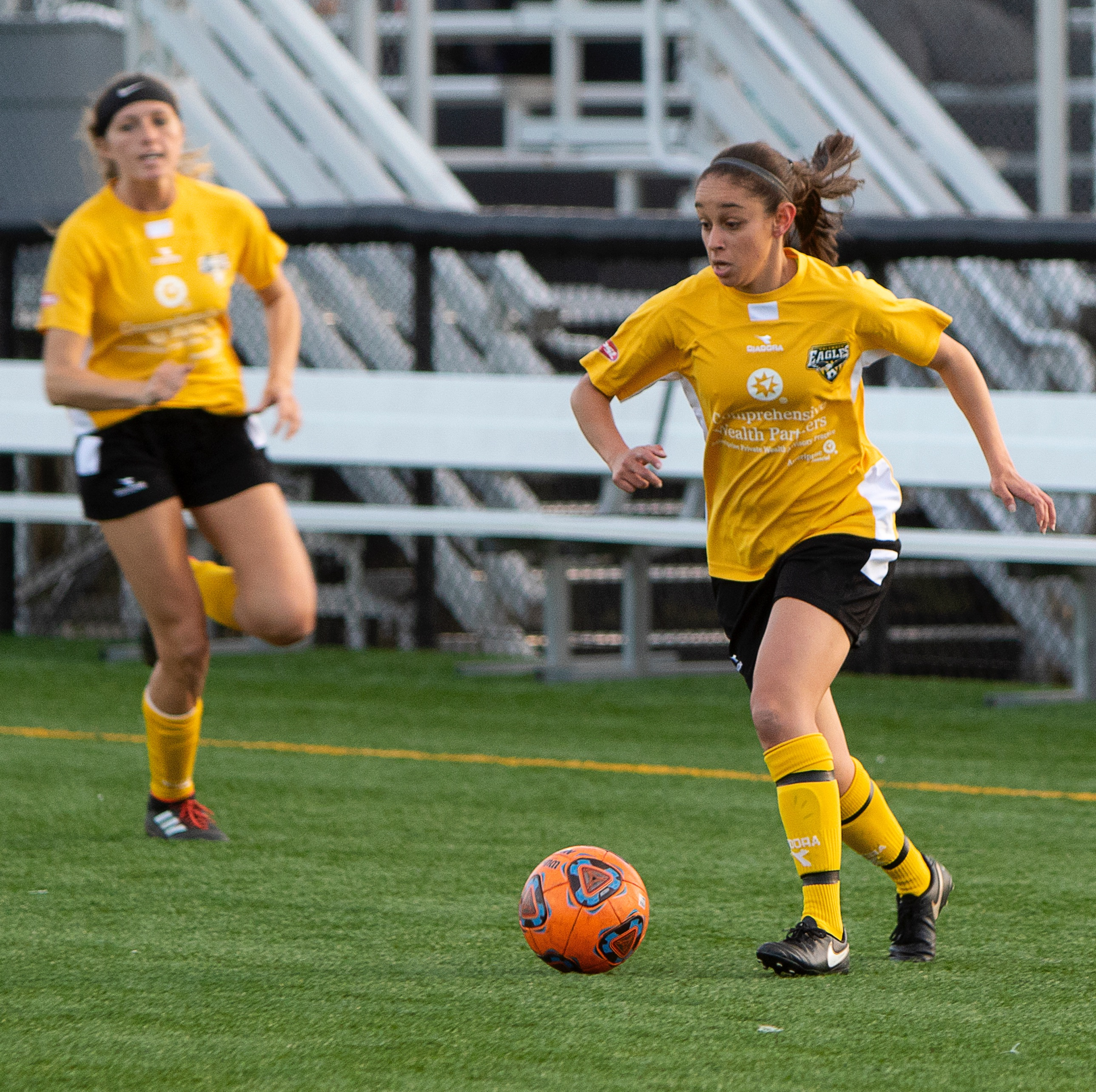 Eagles midfielder Lila Remache dribbles forward against ODU | Daniel Herlensky