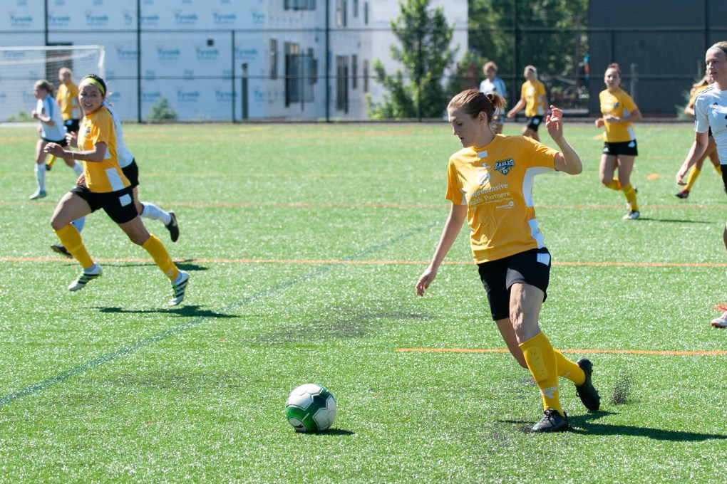 Eagles' midfielder Kelly DeNiro scored her second goal of the 2018 season Sunday against Pittsburgh | Ralph Schudel