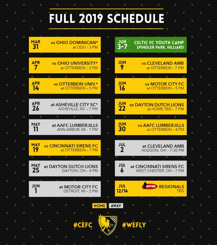 Eagles Schedule 2019 Eagles' Full 2019 Schedule Includes Home WPSL Opener Against