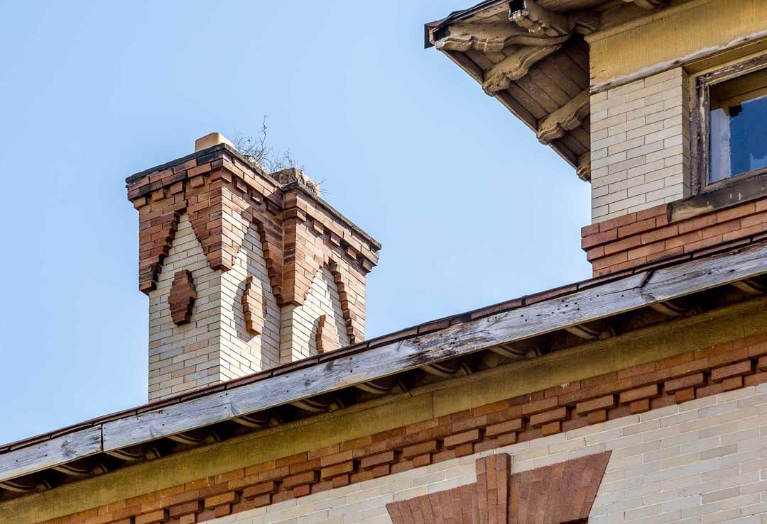Chimney brickwork details