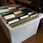 Create a file box for quick, organized storage
